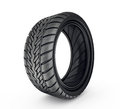 Tyre black isolated on a white background Stock Photography