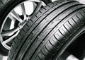 Tyre cars close up picture Stock Images