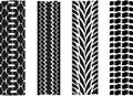 Tyre imprint Royalty Free Stock Photo