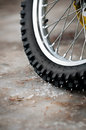 Tyre of motocross bike Royalty Free Stock Images