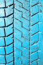 Tyre tread bar old painted close up Stock Photos
