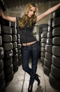 Between tyres Royalty Free Stock Photo