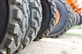 Tyres from Earthmoving Machinery Royalty Free Stock Photo