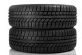 Tyres over white background Royalty Free Stock Photo