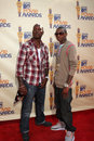 Tyrese gibson soulja boy arriving at the mtv movie awards in universal city ca on may Royalty Free Stock Image