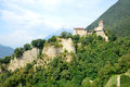 Tyrol castle view of the ancient and famous in trentino south Royalty Free Stock Images
