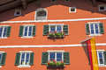 Tyrolean windows in  Austria Royalty Free Stock Photo