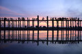 U-Bein Bridge Stock Photo