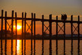 U Bein bridge, Mandalay, Myanmar Stock Image