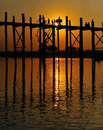 U bein bridge in myanmar Stock Photos