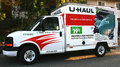 U haul truck lafayette ca usa – november small with ad for champ Stock Photos