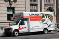 U haul truck new york july parked on july in new york is a moving equipment and storage rental company and has been in Royalty Free Stock Photo
