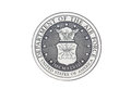U s air force official seal on a white background Royalty Free Stock Images