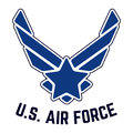 U.S. Air Force vintage t-shirt stamp Royalty Free Stock Photo