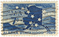 U.S. Air Mail Postage Stamp Royalty Free Stock Photos