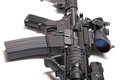U s army carbine m a ar with optical sight close up Royalty Free Stock Photo