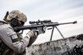 U.S. Army sniper Royalty Free Stock Photo