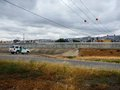 U.S. Border Patrol vehicle parked by fence dividing San Ysidro-Tijuana Royalty Free Stock Photo