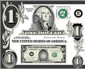 U.S. Dollar bill elements Stock Images
