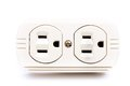 U s electric household outlet isolated see my other works in portfolio Royalty Free Stock Photo