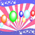 U s independence day july festive background with balloons on Royalty Free Stock Photography