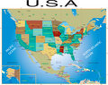 U.S.A map. Stock Photography