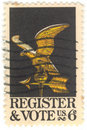 U.S. Register-u. Abstimmung-Stempel Lizenzfreies Stockfoto
