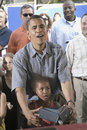 U.S. Senator Barak Obama with his daughter Royalty Free Stock Images