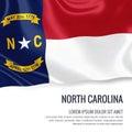 U.S. state North Carolina flag.