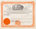 U.S. Stock Certificate Mining Company 1898 Miners Stock Image