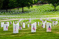 U.S. war veterans cemetery Royalty Free Stock Photography