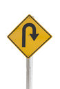 U turn an traffic sign whit an sing from Royalty Free Stock Photos