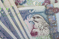 Title: UAE currency dirhams closeup note