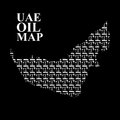 UAE oil map. Silhouette maps of  United Arab Emirates of oil pum Royalty Free Stock Photo