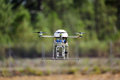 UAV drone flying Stock Images