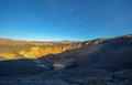 Ubehebe crater death valley in national park california Stock Photos