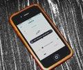 Uber app iPhone app store Royalty Free Stock Photo
