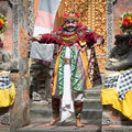 Ubud bali indonesia sep actor performs an minister character on traditional balinese performance barong on sep in ubud bali Royalty Free Stock Photo