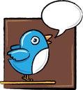 Uccello del Twitter nell'abbozzo Fotografia Stock