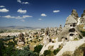 Uchisar cappadocia city of in turkey Stock Images