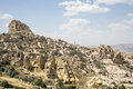 Uchisar in Cappadocia, Nevsehir, Turkey Royalty Free Stock Photo