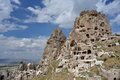 Uchisar cappadocia is situated at the highest point in on the nevsehir goreme road just km from goreme the top of the Stock Photo