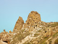 Uchisar castle in Cappadocia, Turkey Royalty Free Stock Photo