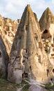 Uchisar Castle in Cappadocia, Turkey Royalty Free Stock Photo