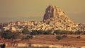 Uchisar castle Cappadocia Royalty Free Stock Photo