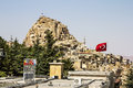 Uchisar castle cave city capadocia turkey Royalty Free Stock Photo