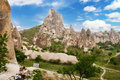 Uchisar castle in rock formation Royalty Free Stock Photo