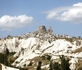 Uchisar viewed from Goreme Kapodokya Royalty Free Stock Photos