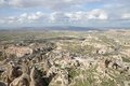 Uchisar village cappadocia of in turkey Royalty Free Stock Image