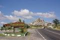 Uchisar village and Uchisar Castle in Cappadocia, Turkey Royalty Free Stock Photo